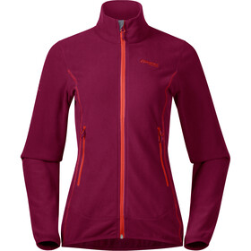 Bergans Lovund Fleece Jas Dames, beet red/bright magma